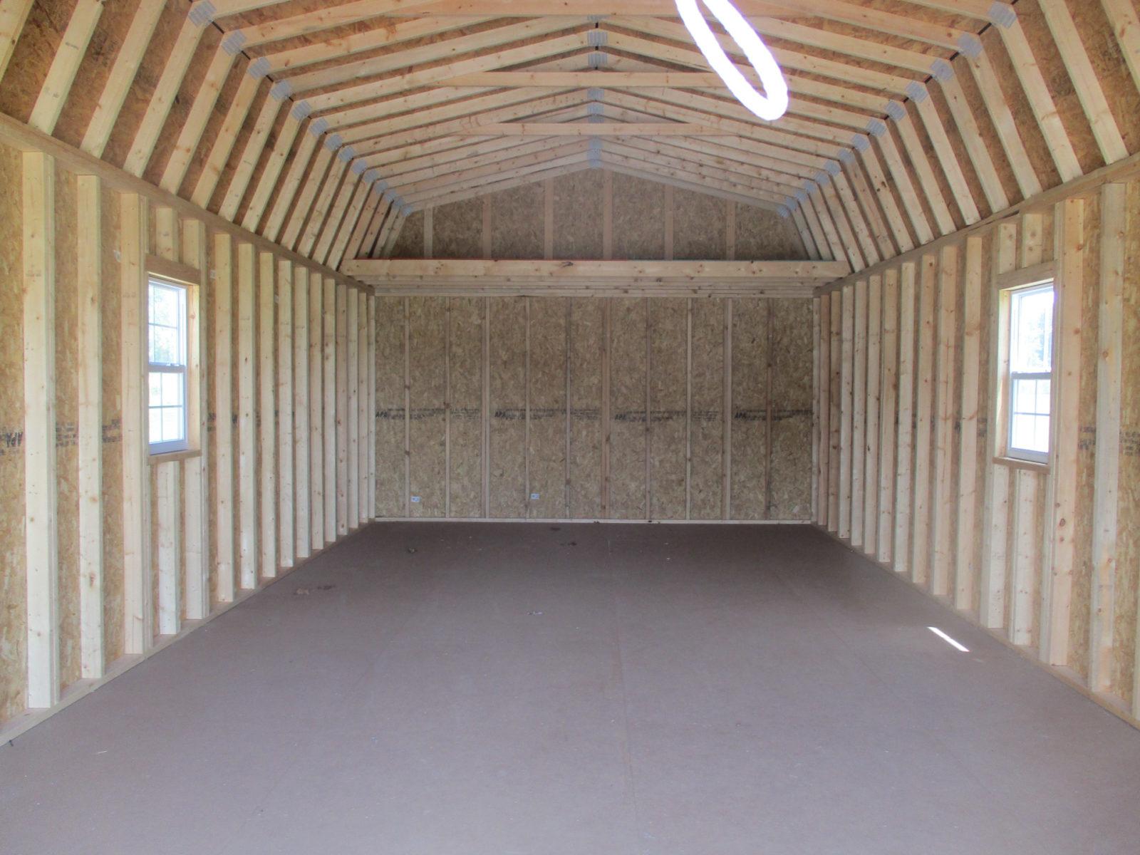 prefab garage inside