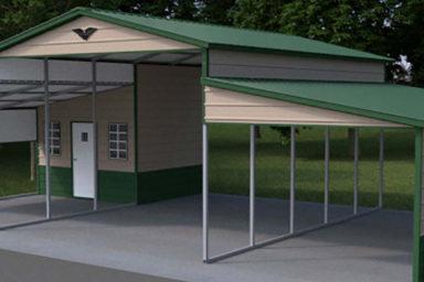3 metal carport