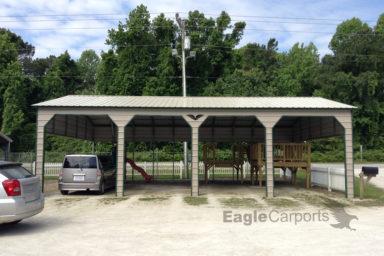 large metal carport