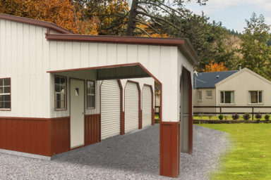 metal garage with carport
