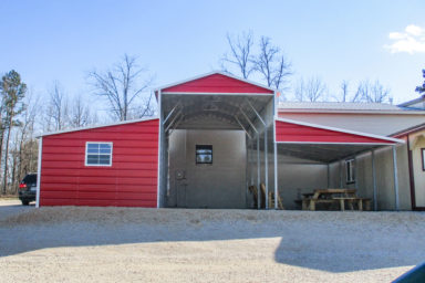 metal barn used as rv carport