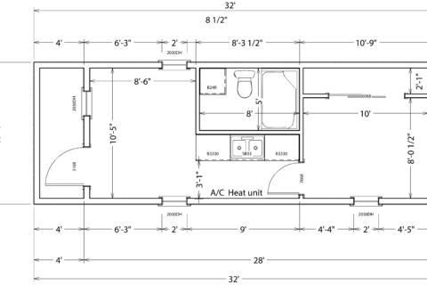 12x32 1 bedroom sample