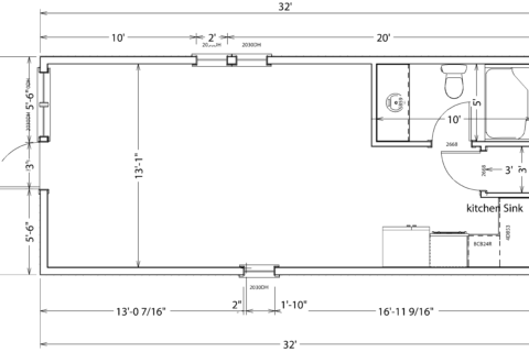 14x32 sample drawing