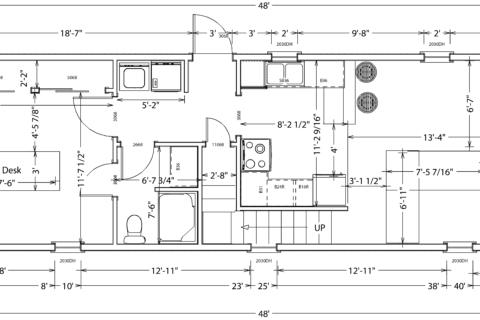 16x48 lofted cabin