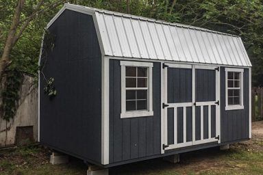 small backyard lofted shed