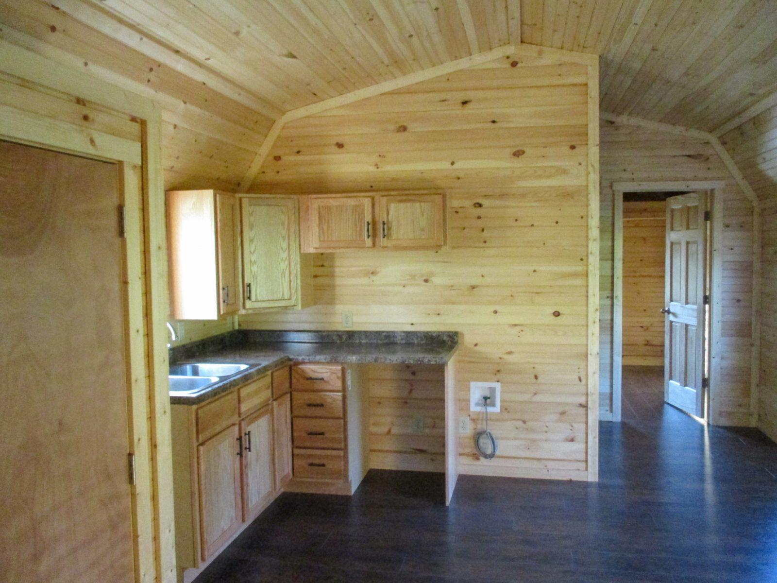 prefab cabin kitchen