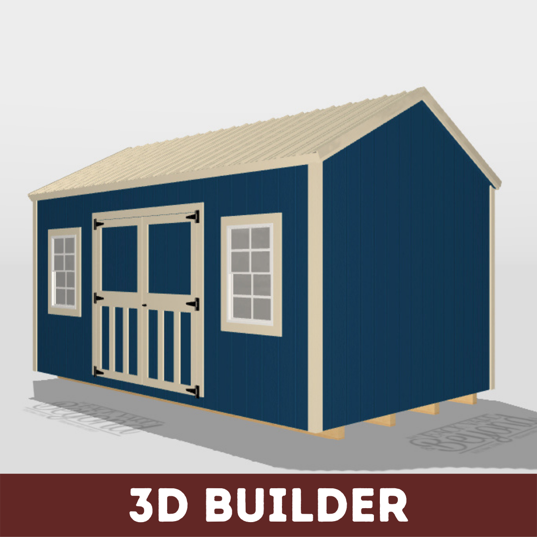 3d side utility shed