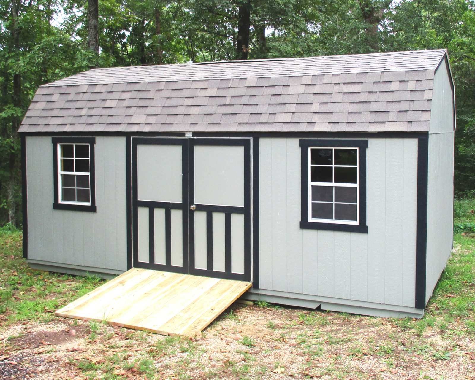side lofted shed